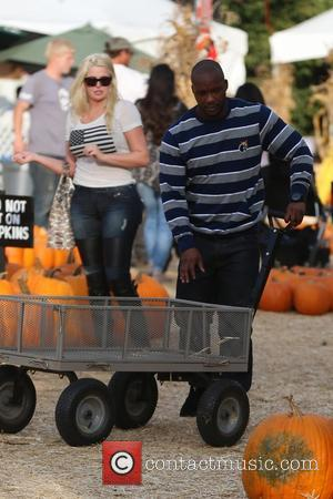 Karissa Shannon arrives at Mr Bones Pumpkin Patch