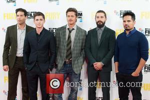 Logan Lerman, Brad Pitt, Michael Pena, Shia Labeouf and Jon Bernthal