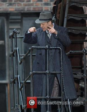 Colin Firth - Filming takes place on the set of 'Genius' - Manchester, United Kingdom - Monday 20th October 2014