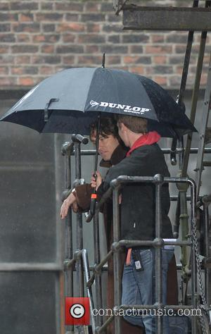 Jude Law - Filming takes place on the set of 'Genius' - Manchester, United Kingdom - Monday 20th October 2014