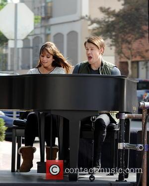 Lea Michele and Chord Overstreet