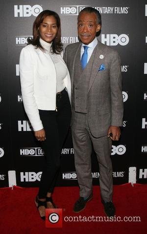 Aisha McShaw and Al Sharpton - A variety of stars were snapped on the red carpet at the Premiere of...