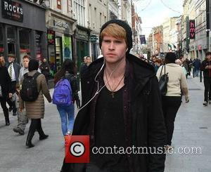 Steve Garrigan - Kodaline lead singer Steve Garrigan seen strolling down Grafton Street. The Irish rockers were forced to cancel...