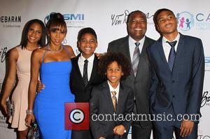 Rodney Peete, Ryan Elizabeth Peete, Roman Peete, Robinson James Peete and Holly Robinson Peete