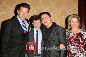 William Baldwin, Nolan Gould, Atticus Baldwin and Isabella Hofmann