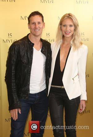 Brendan Cole and wife Zoe Hobbs - British Lingerie boutique Myla celebrated its 15th Anniversary with a party in London,...