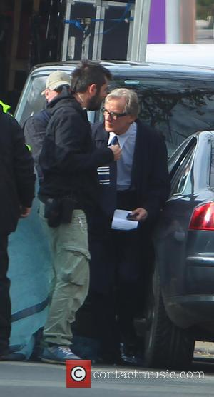 Bill Nighy - Bill Nighy arrives on the set of Dad's Army - Yorkshire, United Kingdom - Wednesday 22nd October...