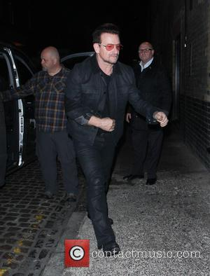 Bono and U2 - Celebrities at Chiltern Firehouse restaurant in Marylebone - London, United Kingdom - Wednesday 22nd October 2014