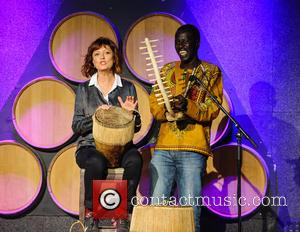 Susan Sarandon and Okello Sam - Rehearsals for Hope North gala at City Winery, honoring Forest Whitaker - New York,...