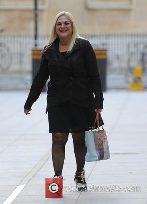 Vanessa Feltz - Vanessa Feltz out and about in London wearing a black outfit and trainer boots. - London, United...