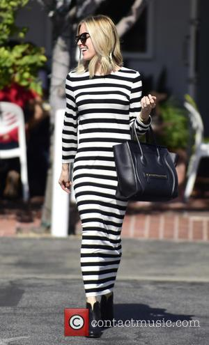 Kristin Cavallari - Kristin Cavallari looking stylish in a striped dress as she leaves the Fred Segal store - Los...