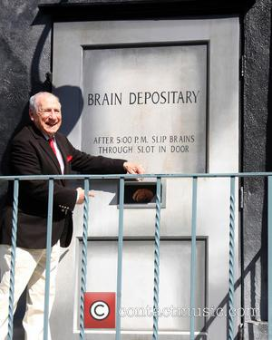 Mel Brooks - The 40th anniversary commemorative mural honoring 'Young Frankenstein' at 20th Century Fox Lot - Century City, California,...