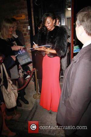 Beverley Knight - Opening night of 'Memphis' the musical at the Shaftesbury Theatre in London - Departures at Shaftesbury Avenue,...