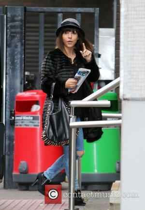 Roxanne Pallett - Roxanne Pallett outside the ITV studios - London, United Kingdom - Thursday 23rd October 2014