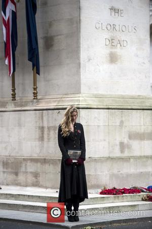 Joss Stone Helps To Launch Poppy Appeal With Cenotaph Vigil