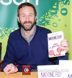 Chris O'Dowd - Actor Chris O'Dowd and Moone Boy co-writer Nick V.Murphy at Easons O'Connell Street were they signed copies...