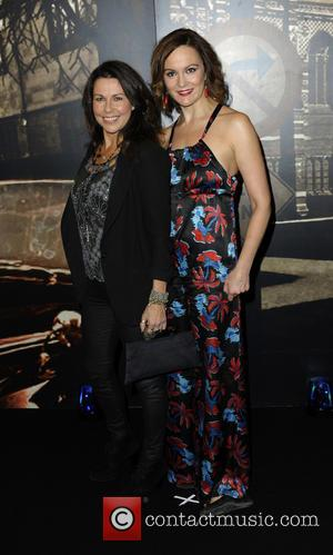 Julie Graham and Rachael Stirling - Specsavers Crime Thriller Awards 2014 at the Grosvenor Hotel London - Arrivals at Grosvenor...