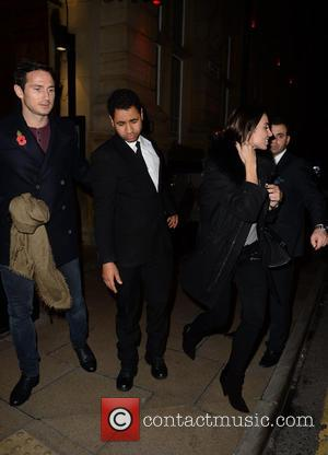 Christine Bleakley and Frank Lampard - Frank Lampard and Christine Bleakley spotted leaving Rosso restaurant in Manchester - Manchester, United...