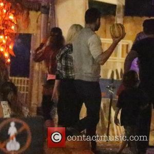 Christina Aguilera and Matthew Rutler - Christina Aguilera arrives at the Mr. Bones Pumpkin Patch with her fiancé Matthew Rutler...