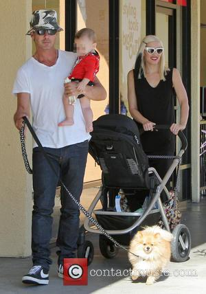 Gavin Rossdale, Apollo Rossdale and Gwen Stefani