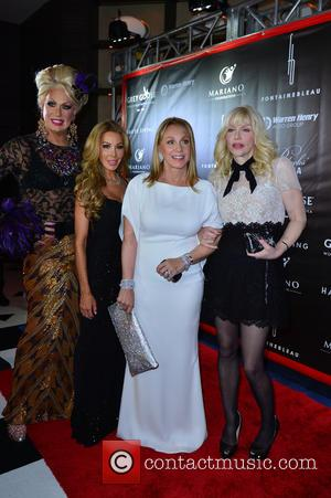 Elaine Lancaster, Lisa Hochstein, Lea Black and Courtney Love