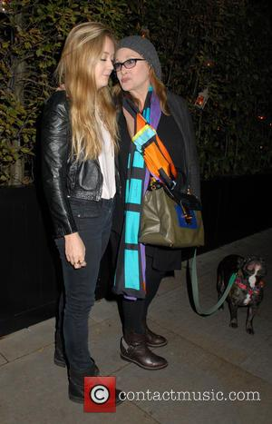 Carrie Fisher - Celebrities at Chiltern Firehouse restaurant in Marylebone - London, United Kingdom - Monday 27th October 2014