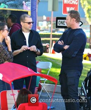 Ian Ziering, Jon Cryer and Lisa Joyner - Celebrities with their families at the Studio City Farmers Market at Studio...
