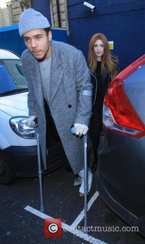 Nicola Roberts and Joel Compass - Nicola Roberts out in west london at a recording studio with Joel Compass. -...