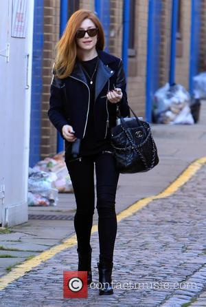 Nicola Roberts - Nicola Roberts arrives at a recording studio in West London - London, United Kingdom - Monday 27th...