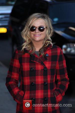 Amy Poehler - Celebrities outside the Ed Sullivan Theater as they arrive for the 'Late Show with David Letterman' at...