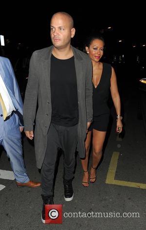 Mel B, Stephen Belafonte and Melanie Brown - 'Many British stars attended A String of Naked Lightbulbs' afterparty at the...