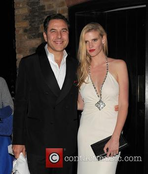 David Walliams , Lara Stone - Mario Testino 60th Birthday Bash at the Chiltern Firehouse restaurant - London, United Kingdom...