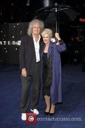 Brian May and Anita Dobson - UK Premiere of 'Interstellar' held at the Odeon Cinema Leicester Square - Arrivals at...