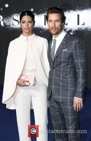 Camila Alves and Matthew McConaughey - UK Premiere of 'Interstellar' held at the Odeon Cinema Leicester Square - Arrivals at...