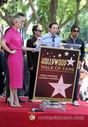 Kaley Cuoco, Simon Helberg, Jim Parsons, Kunal Nayyar and Johnny Galecki - Star of the American TV show 'The Big...