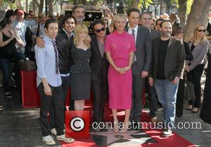 Simon Helberg, Johnny Galecki, Kunal Nayyar, Chuck Lorre, Leron Gubler, Kaley Cuoco and Melissa Rauch - Star of the American...