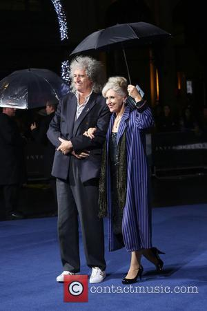 Anita Dobson and Brian May - Photographs of the Hollywood stars as they attended the UK Premiere of Sci-Fi movie...
