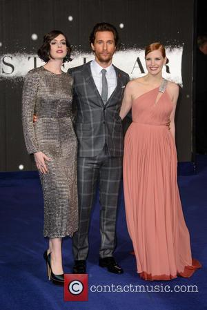 Anne Hathaway, Matthew McConaughey and Jessica Chastain - 'Interstellar' UK film premiere held at the Odeon Cinema Leicester Square -...