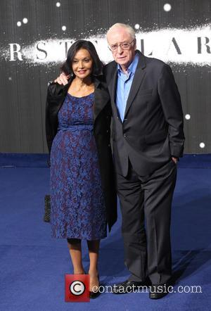 Sir Michael Caine and wife Shakira Caine - Photographs of the Hollywood stars as they attended the UK Premiere of...