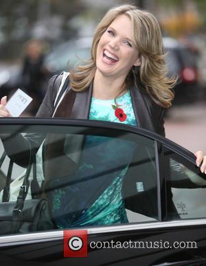 Charlotte Hawkins - Charlotte Hawkins outside ITV Studios - London, United Kingdom - Wednesday 29th October 2014
