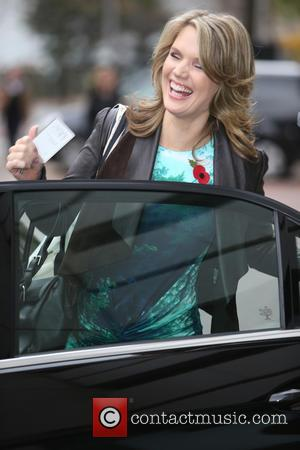 Charlotte Hawkins - Charlotte Hawkins outside ITV Studios - London, United Kingdom - Wednesday 29th October 2014