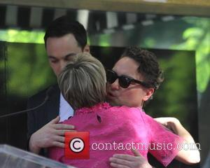 Kaley Cuoco and Johnny Galecki - Kaley Cuoco receives the 2,532nd star on the Hollywood Walk of Fame, and is...