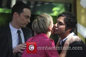 Kaley Cuoco and Kunal Nayyar - Kaley Cuoco receives the 2,532nd star on the Hollywood Walk of Fame, and is...
