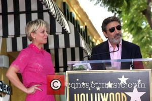 Kaley Cuoco and Chuck Lorre - Star of the American TV show 'The Big Bang Theory' Kaley Cuoco was given...