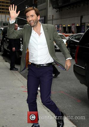 David Tennant - Celebrities outside the Ed Sullivan Theater as they arrive for the 'Late Show with David Letterman' at...