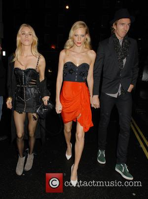 Lady Mary Charteris and Poppy Delevingne - A variety of celebrities including British super models Kate Moss and Naomi Campbell...