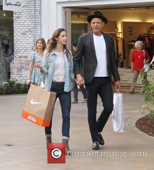 Jeff Goldblum and Emilie Livingston - Jeff Goldblum takes his girlfriend Emilie Livingston shopping at The Grove in Hollywood -...