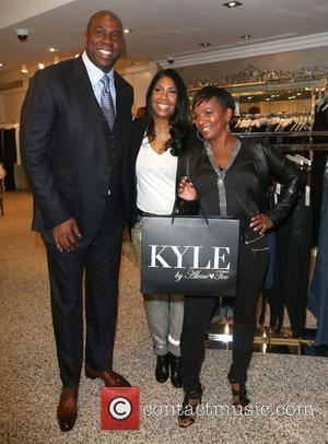 Magic Johnson - Images from wife of Magic Johnson Cookie Johnson's Trunk Show held  at Kyle By Alene Too...