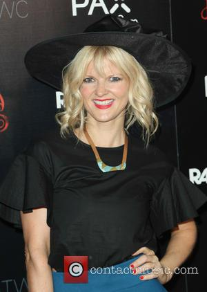 Arden Myrin - Photographs of the stars on the red carpet at the Los Angeles premiere of 'Horns' starring Daniel...