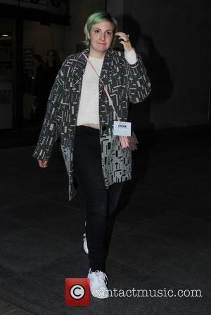 Lena Dunham - Celebrities at the BBC Radio 1 studios - London, United Kingdom - Thursday 30th October 2014
